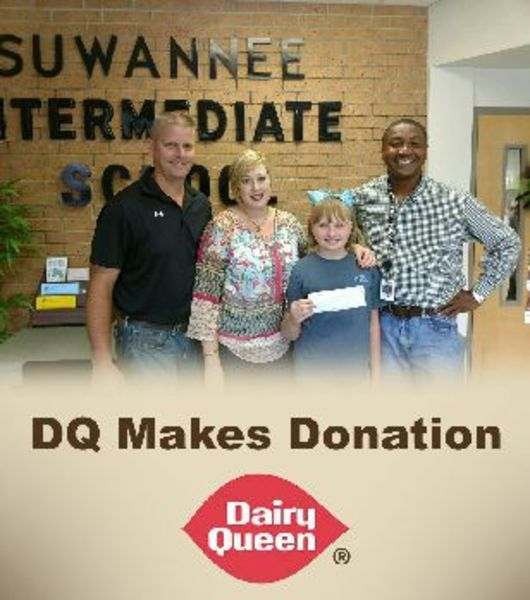 Sis Receives Donation From Dairy Queen District News Suwannee