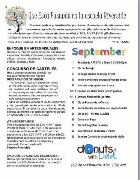 Boletín de septiembre en español