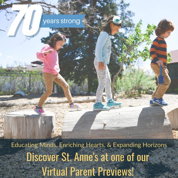 Educating Minds, Enriching Hearts, and Expanding Horizons Discover St. Anne's at our Parent Preview