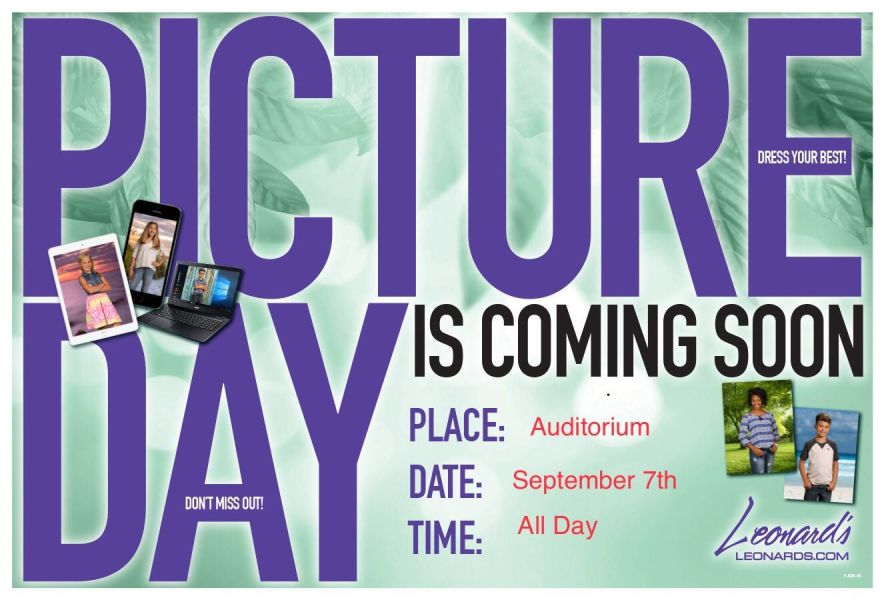 Picture Day Is Coming School Information T Dewitt Taylor