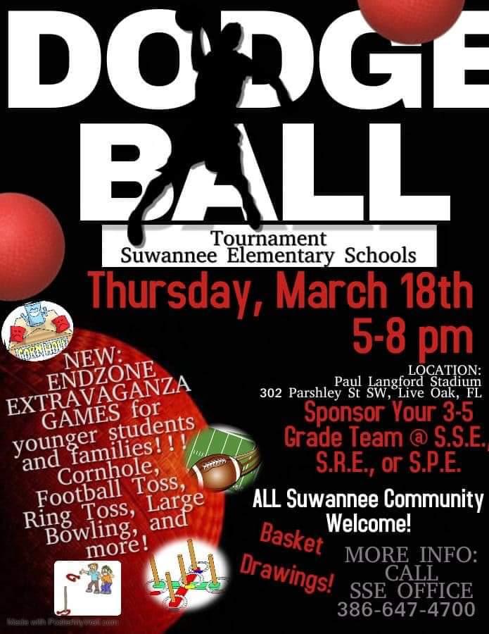Dodgeball Tournament Flyer