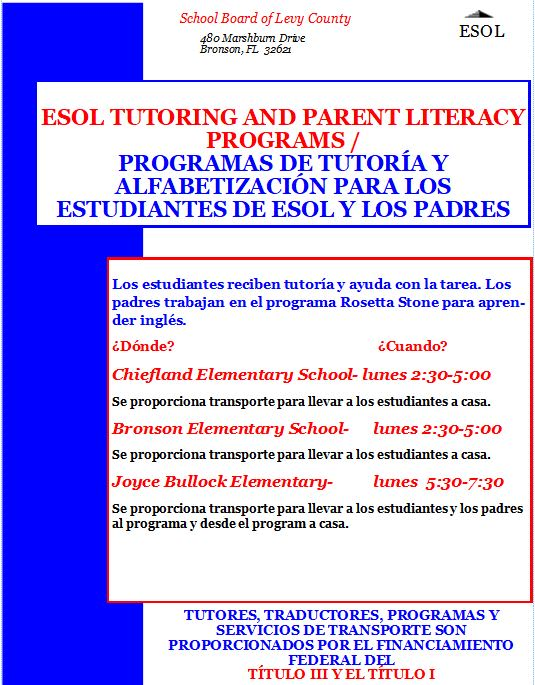 ESOL Tutoring