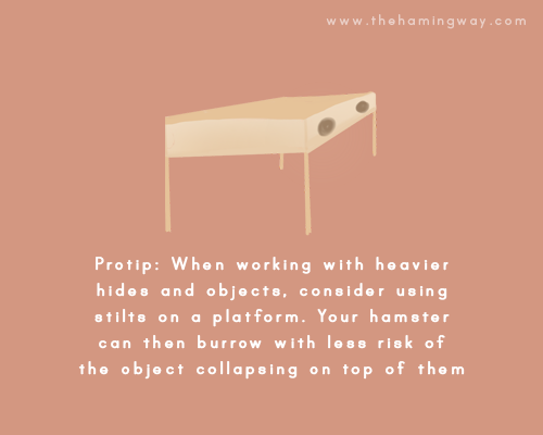 The Hamingway - Pro-tip when working with heavier hides use stilts