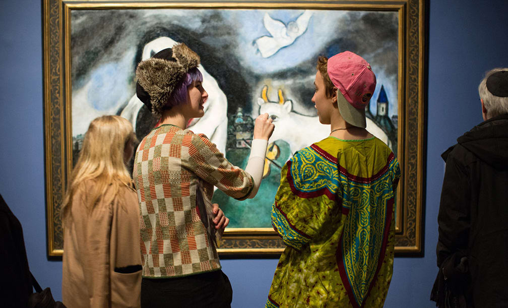 Installation View Of Chagall Love War And Exile C 2014 Artists Rights Society ARS New York ADAGP Paris Photo By David Andrako