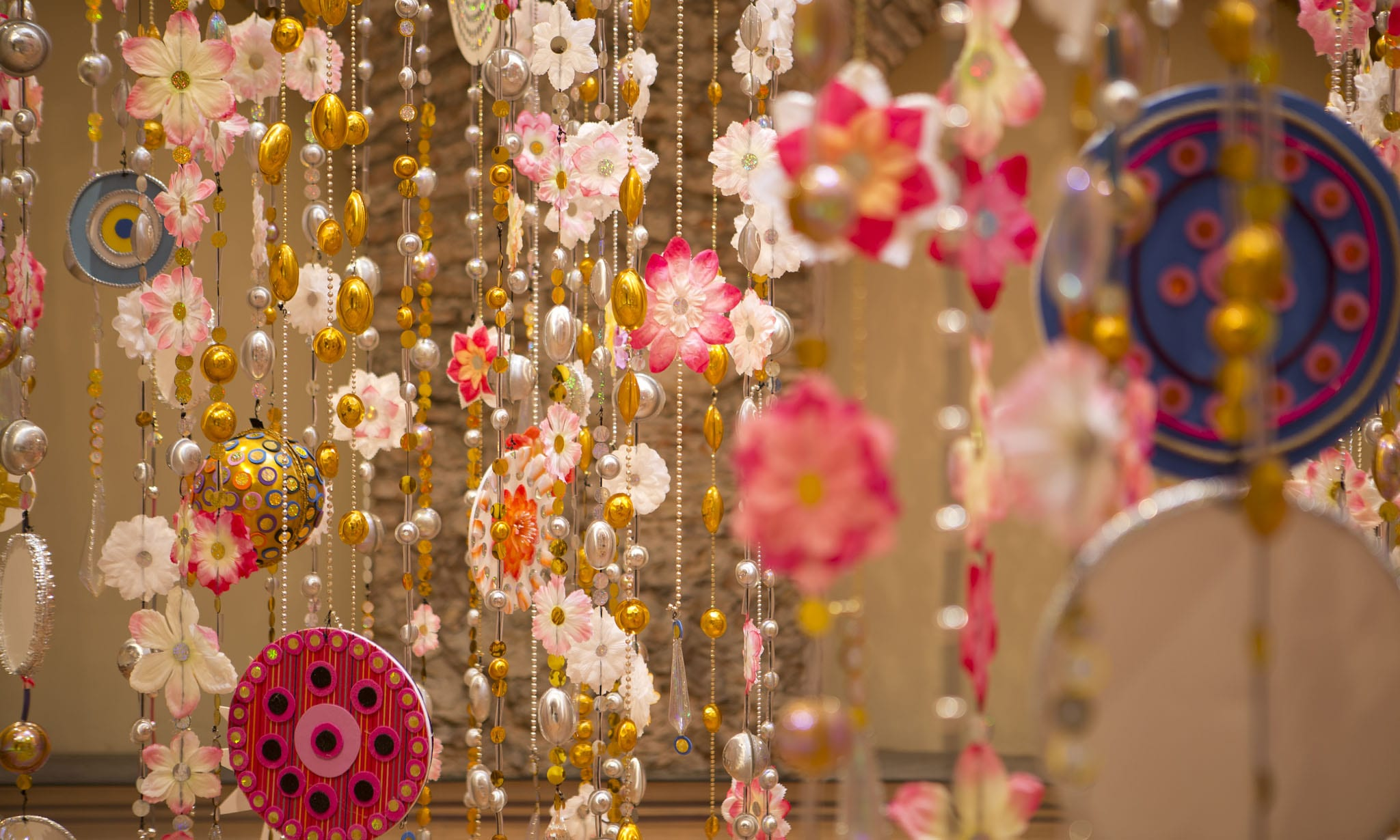 Hanging Installation by Beatriz Milhazes Created for the Jewish Museum's Lobby