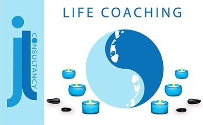 Life Coaching. This image is of ying and yang people in a zen environment