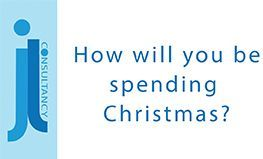 Image states the words - How will you be spending Christmas?