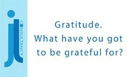 Image states the words Gratitude. What have you got to be grateful for?