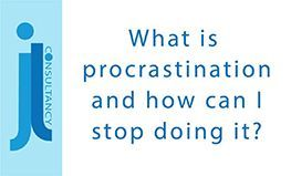 Image states the words what is procrastination and how can I stop doing it?