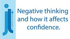 Image states the words negative thinking and how it affects confidence