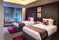 Deluxe room twin bed Gold at Hard Rock Hotel Goa