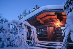 Log Cabin at  Kakslauttanen Arctic Resort