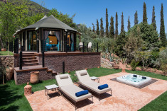 Berber Tent with private hot tub at Kasbah Tamadot - Luxury Holidays | Atlas Mountains Morocco