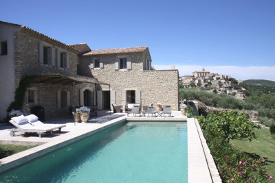 VILLA LA SUPERBE - GORDES - BREATHTAKING VIEW OF THE LUBÉRON WITH 3 LUXURIOUS SUITES