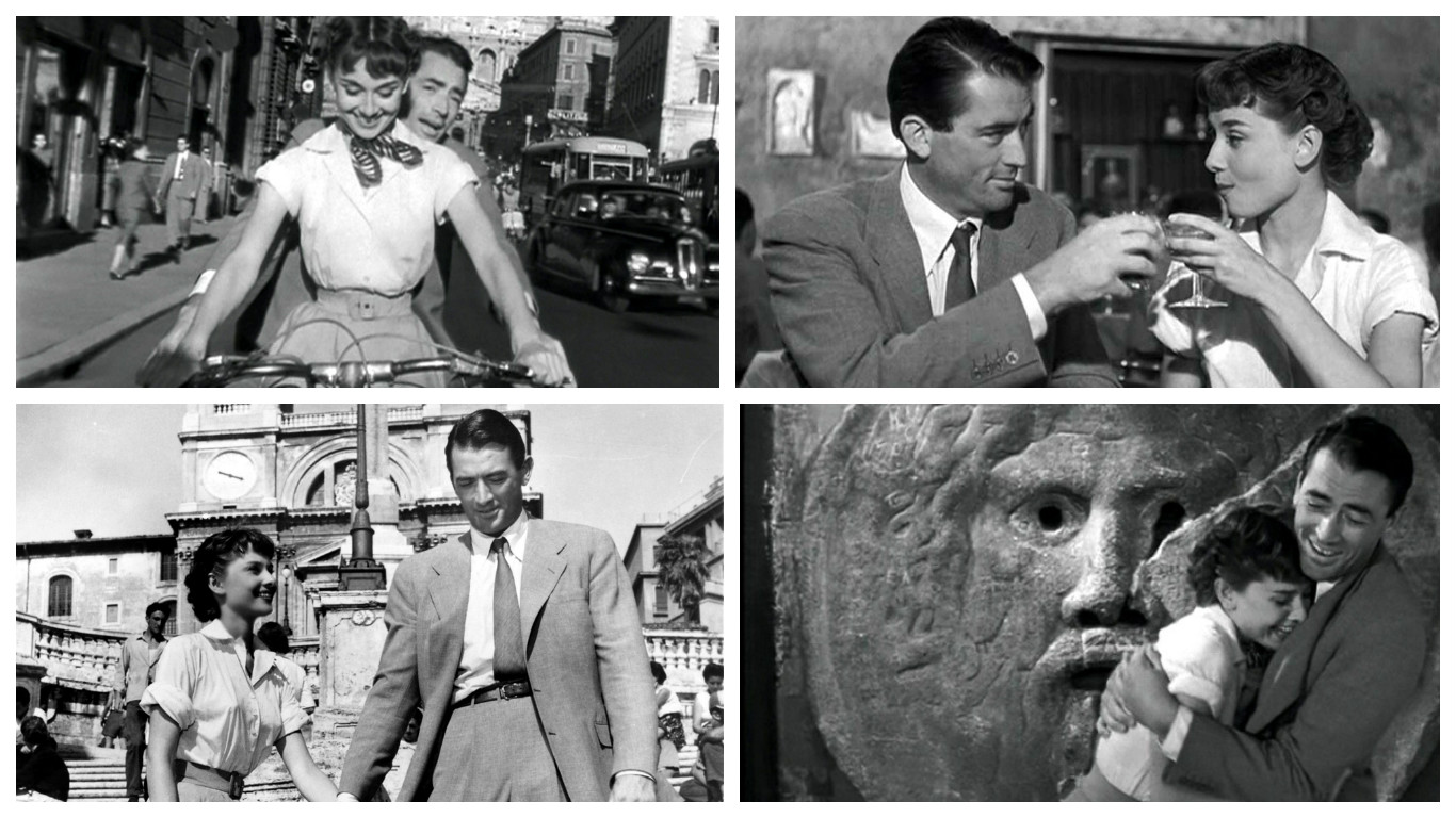 Love letters from Rome in Italy, Roman Holiday with Audrey Hepburn
