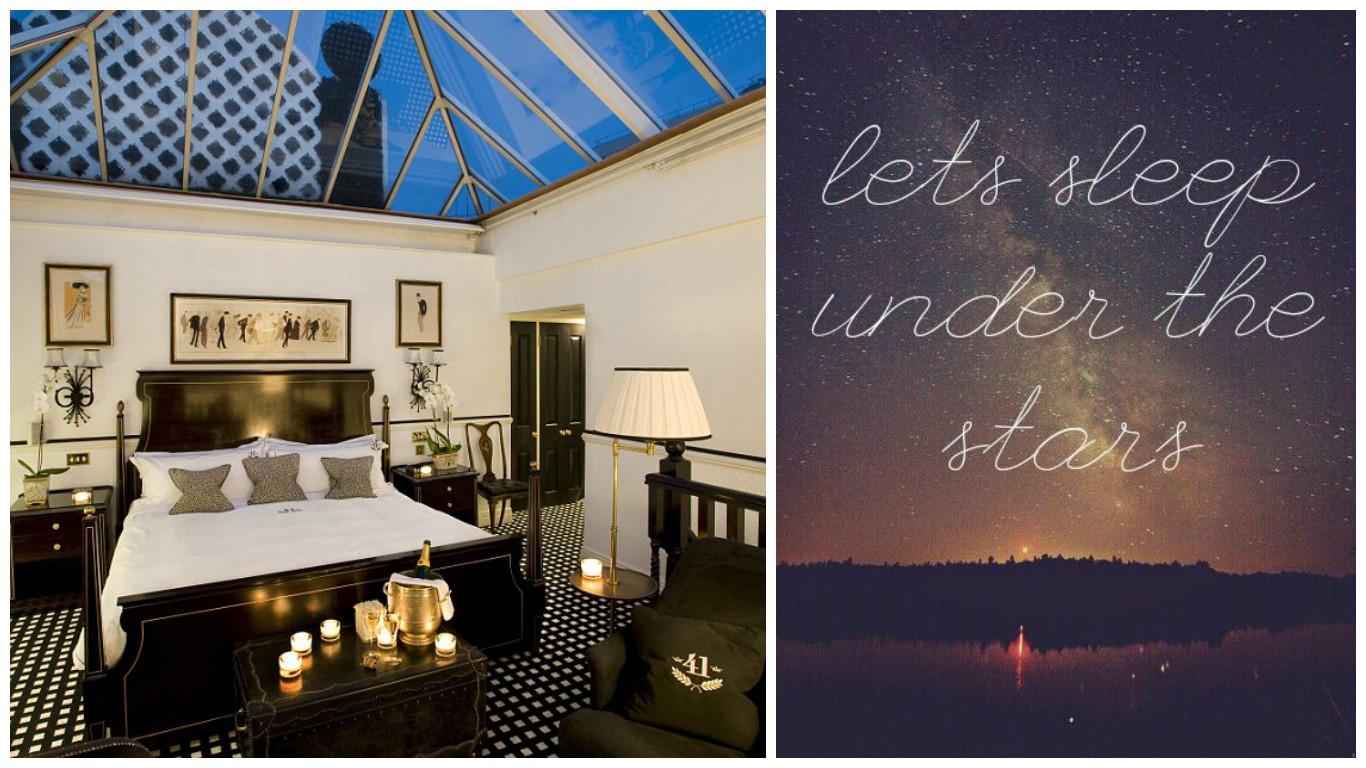 A Night Under the Stars - Hotel 41 - London - Conservatory Suite - Boutique Hotel - Honeymoon - Wedding - Weekend Break