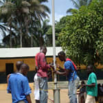 The Water Project: Gbaneh Bana SLMB Primary School Well Rehabilitation -