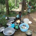 The Water Project: Shiamala Community, David Ashiona Spring -  Child Washing Utensils