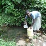 The Water Project: Shiamala Community, David Ashiona Spring -  Fetching Water
