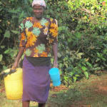The Water Project: Eluhobe Community, Amadi Spring -  Fetching Water