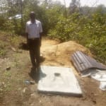 The Water Project: Shiamala Community, David Ashiona Spring -  Sanitation Platform
