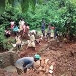 The Water Project: Eluhobe Community, Amadi Spring -  Construction