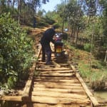 The Water Project: Ematiha Community, Ayubu Spring -  Crossing A Bridge To The Village