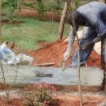 The Water Project: Nyira Community, Ondiek Spring -  Sanitation Platform Construction