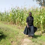 The Water Project: Timbito Community, Wakamu Spring -  Alice Heading To The Spring