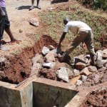 The Water Project: Nyira Community, Ondiek Spring -  Spring Construction