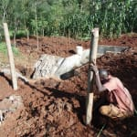 The Water Project: Nyira Community, Ondiek Spring -  Building A Fence