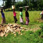 The Water Project: Timbito Community, Wakamu Spring -  Transporting Materials