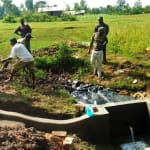 The Water Project: Timbito Community, Wakamu Spring -  Backfilling