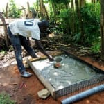 The Water Project: Timbito Community, Wakamu Spring -  Sanitation Platform Construction