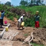The Water Project: Ematiha Community, Ayubu Spring -  Clean Water