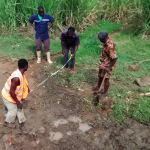 The Water Project: Ematiha Community, Ayubu Spring -  Construction
