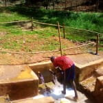 The Water Project: Mudete Community, Wadimbu Spring -  Clean Water