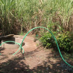 The Water Project: Elukho Community A -  Test Pumping The Well We Will Rehabilitate