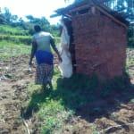 The Water Project: Mukhangu Community, Okumu Spring -  Mud Walled Latrine