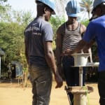 The Water Project: Sankoya Community, Prophecy Primary School -  Yield Testing Nearly Complete Well