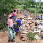 The Water Project: Kitandini Community -  Materials Gathered To Supplement Construction