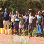 The Water Project: Mbuuni Community B -  Finished Sand Dam