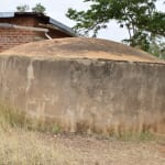 The Water Project: Ndiani Primary School -  Broken Rainwater Tank