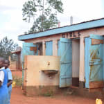 The Water Project: Mbuuni Primary School -  Girls Latrine