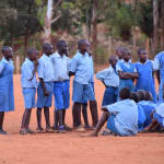 The Water Project: Mbuuni Primary School -  Students Socializing