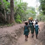 The Water Project: PC Bai Shebora Gbereh III Primary School -  Returning Home With Fetched Water