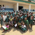 The Water Project: PC Bai Shebora Gbereh III Primary School -  Students Outside Classroom