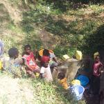 The Water Project: Shiamala Community, David Ashiona Spring -  Gathering Water