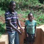 The Water Project: Eluhobe Community, Amadi Spring -  Jazron Amakobe And Michael Omuchina