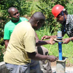 The Water Project: Elukho Community A -  Pump Installation